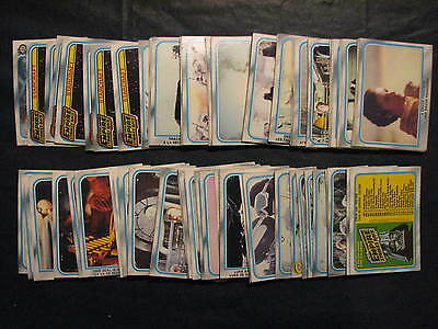 Star Wars the Empire Strikes back 1980 OPC Series 2 Partial set, missing 6 cards