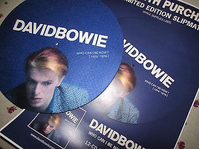 DAVID BOWIE WHO CAN I BE NOW? ORIGINAL promo slipmat promo with poster.