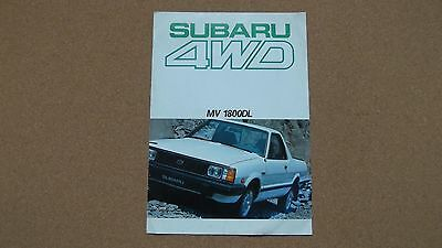 subaru pickup MV 1800 original sales brochure