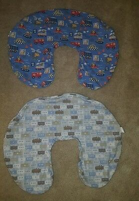 Adorable Boys Trains, Cars, Boats, and Trucks Boppy Pillow Covers