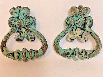 LOT 2 Vintage ORNATE  BRASS DRAWER PULL/HANDLES~ CH 2038~ CANADA