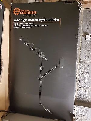 Halfords Universal Car Rear High Mount Mounted Rack 3 Bike Bicycle Cycle Carrier