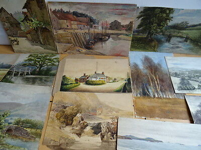 19th century watercolours (12 IN TOTAL)