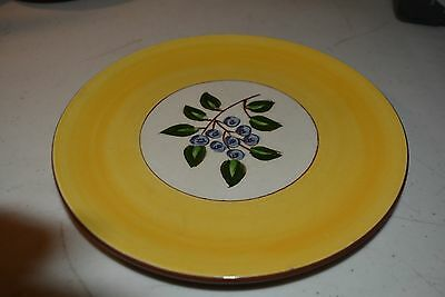 Lunch Plate,  Stangel Pottery,  Blueberry Pattern, Beautiful, Great Color