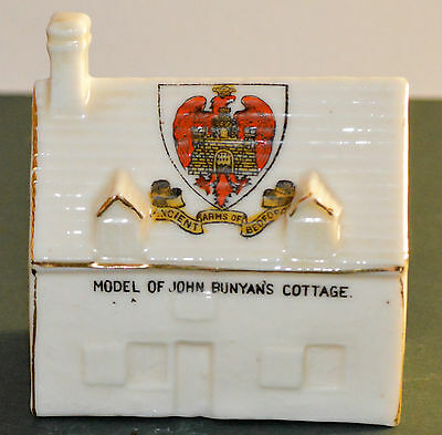 WILLOW ART CRESTED WARE MODEL of JOHN BUNYAN'S COTTAGE
