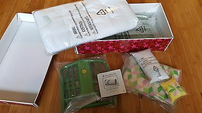 American Girl Kit's BED and QUILT SET retired version bed  quilt pillow mattress