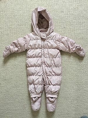 Baby Gap Pink Down Filled Fleece Lined Snowsuit - Age 0-6 Months