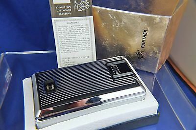 Vintage Directors Panther Piezo Butane Table Electronic Lighter 1970s NOS Boxed