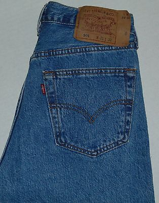 VINTAGE Levi's 501 Button Fly Jeans Blue Size Women's 31x32 Made in USA EUC