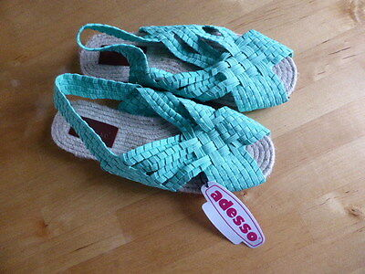 Adesso Size 7 (41) Sea Green Sandals. New With Label.