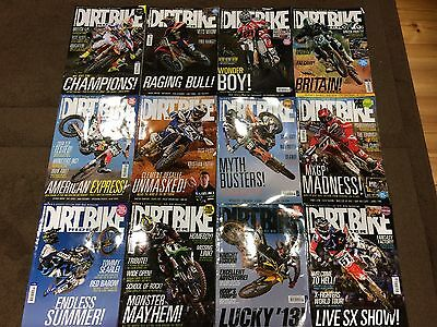 DIRT BIKE Magazines 12 Issues All Of 2013