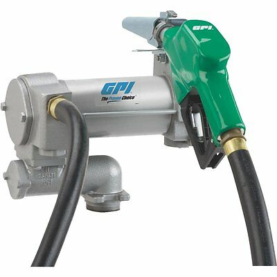 GPI 12V DC 25-GPM Cabinet Fuel Transfer Pump with Automatic Nozzle