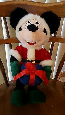 Minnie Mouse Mrs. Santa Claus with Gift Disney Plush Toy