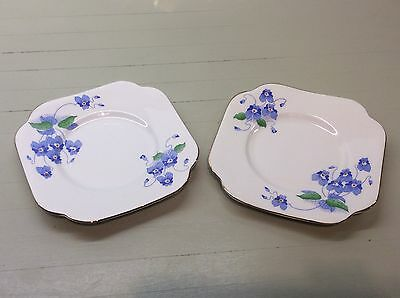 Pair of bone china Colclough bread and butter plates in EXCELLENT condition