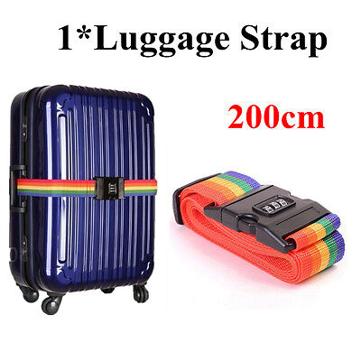 1pcsTravelling Luggage Suitcase Packing Strap With Password Lock For Security UK