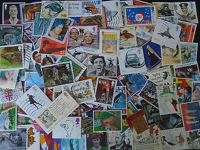 Lot Of 100 X Various Commemorative Gb Postage Stamps-Fine Used