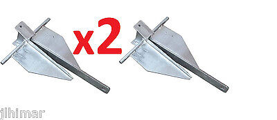 2x NEW 8LB (3.6kg ) Sand Anchor for boat , SAVE $20 - RRP $60 @ BCF , CHEAP !!!!
