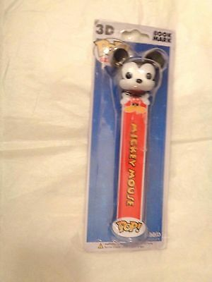 New Funko Pop 3D  Disney Mickey Mouse Bookmark Red and Black 6 1/4""