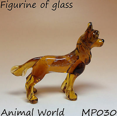 Figurine dog Chinese Crested Blown glass Russian Souvenirs high quality handmade