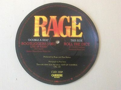 "Rage 7"" Bootleggers Picture Disc"