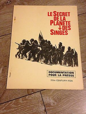 le secret de la planète des singes (1970) dossier de presse 20th century fox