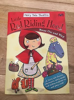 NEW Fairytale Theatre Book - Little Red Riding Hood - Press Out & Play