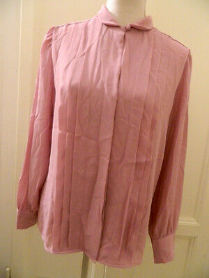 Camicia vintage rosa a pieghe pleated pink shirt 80's