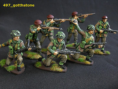 airfix 1/32 converted and professionally painted British paratroops ww2 . 54mm