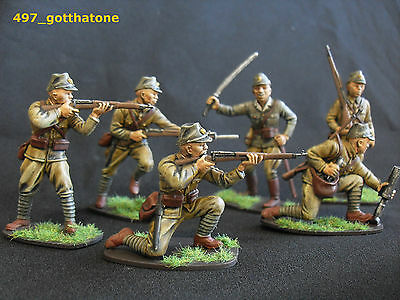 Airfix/full set x 14 1/32 professionally painted Japanese infantry ww2.  54 mm