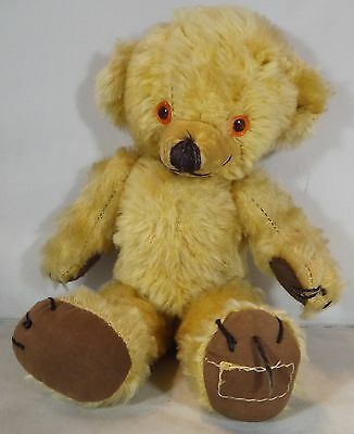 "VINTAGE 1950s/60s 11"" MERRYTHOUGHT MOHAIR CHEEKY TEDDY BEAR BELLS IN EARS"