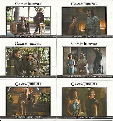Game of Thrones Season 5 Trading Cards - Relationships Special-Set (DL21 - DL30)