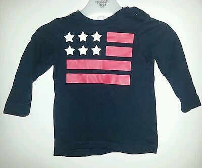 Baby boys stars and stripes super soft long sleeved top 6-9 months H & M
