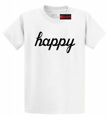 Happy Graphic Tee Shirt Motivational Inspirational Cute Graphic T Shirt S-5XL