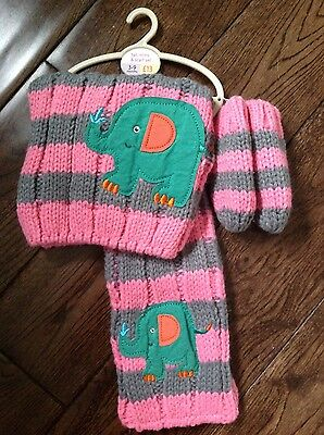 baby girl hat scarf and mitts set age 3-9 months from Next BNWT