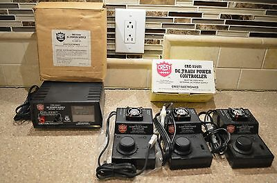 3 Crest CRE-55401 Controllers plus CRE-55451 (ART-5450) Power Supply Aristocraft