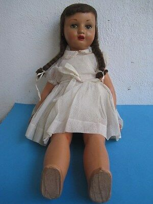 19th Century Paper mache doll in motion when the legs move turns the head Rare 1