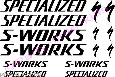 Specialized S Works Cycling Bike Frame Vinyl Decals Stickers BEST VALUE