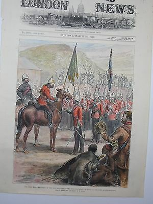 ZULU WAR the lost  COLOURS  hand coloured   MILITARY PRINT  jack mummery