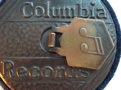 """Striking Columbia Records Art Deco 78"""" Record Cleaner"""