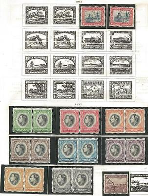 19 South West Africa Stamps from Quality Old Album 1931-1937