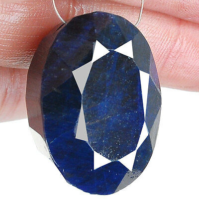 193 Cts Certified Pre Drilled Natural Sapphire Royal Blue Authentic Big Gemstone