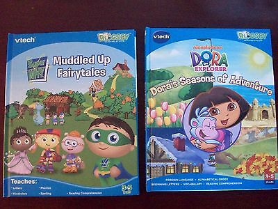 VTech Bugsby Reading System Book/Cartridge Super Why Muddled Up Fairytales Dora