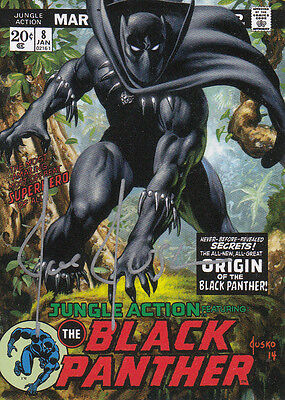 2016 Marvel Masterpieces Autograph What If #65 Black Panther #09/10 Auto VHTF