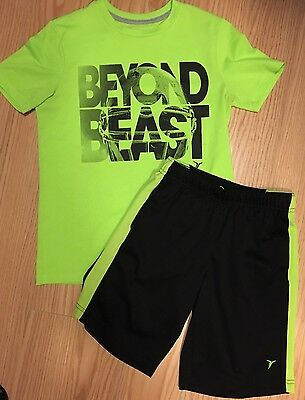 Boys Shorts Size 8 Matching Shirt Size 10/12 Outfit Lot Of 2