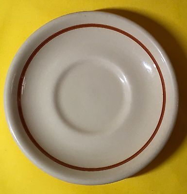 Shenango China New Castle Pennsylvania Restaurant Ware Saucer Beige Brown Bands
