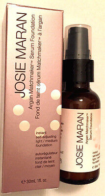 New- Josie Maran - Argan Matchmaker Serum Foundation - Light / Medium - 1 Oz