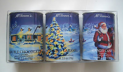 McSteven's 3 Piece Hot Cocoa Set Double Chocolate, Salted Caramel, Candy Cane