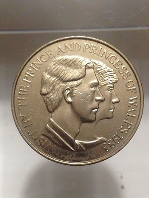 1983 Gilt Bronze Medal/Coin VISIT BY PRINCE & PRINCESS OF WALES Australia AMOR