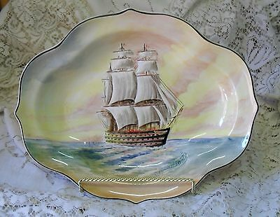 Royal Doulton Famous Ships Lord Nelson The Victory Dish Made In England D5957