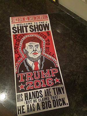 US President Trump FREAK SHOW circus Poster Protest sign banner anti HATER us